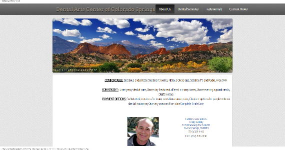 Colorado springs dentist using online web builder