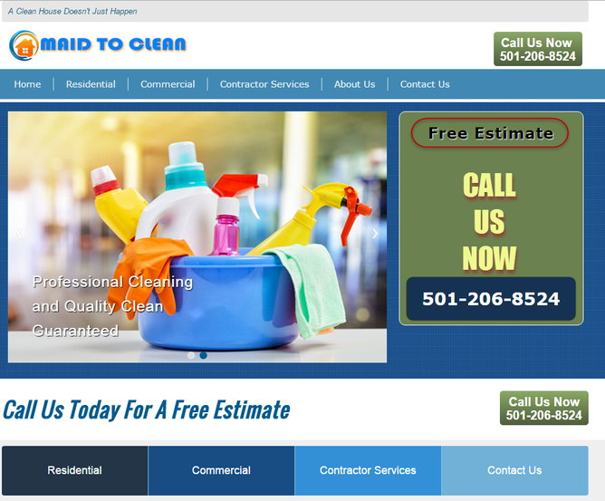 Arkansas cleaning services, house and office cleaning